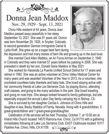 Donna Jean Maddox