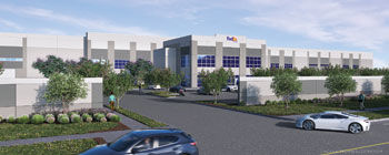FedEx parcel delivery facility rendering