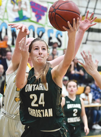 Ontario Christian High girls basketball team