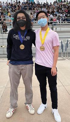 Chino Hills High Valedictorian Keagan Wang Chern (left) and Salutatorian Alex Gorjang Baugh