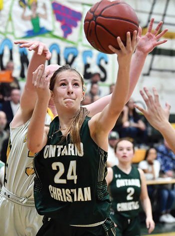 Ontario Christian High girls' basketball player Chloe Briggs