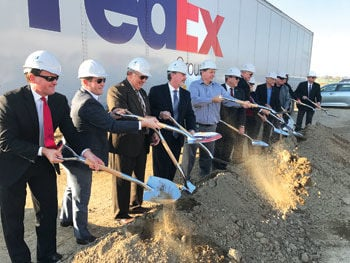 FedEx groundbreaking