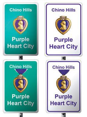 Purple Heart City signs
