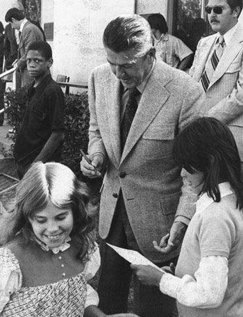 Gov. Ronald Reagan tours Boys Republic in May 1974