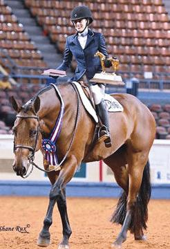 Alessandra Erhle with her gelding Puddin
