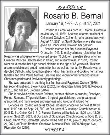Rosario B. Bernal