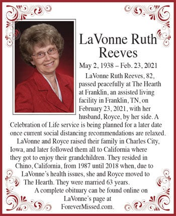 LaVonne Ruth Reeves