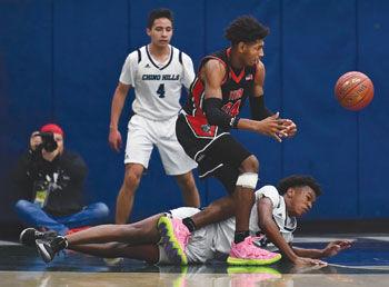 Ayala High's Jordan Williams and Chino Hills High's Noah Yarbrough