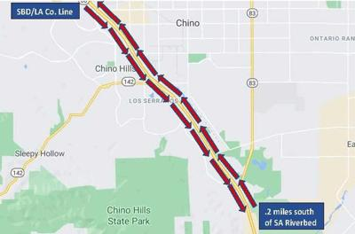 Slab replacement project on 71 Freeway in Chino, Chino Hills begins July 26