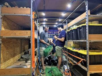 Boy Scouts trailer