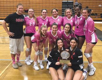 The Ayala High School varsity girls volleyball team