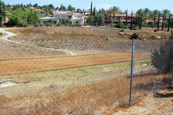 Vellano golf course fenced