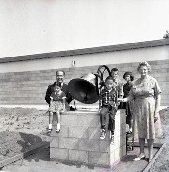 School bell dedicated to Gird Primary School in 1964.