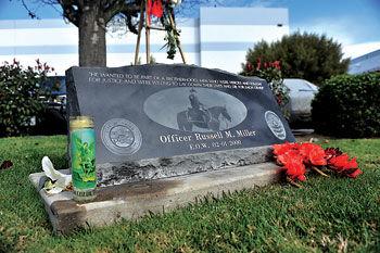 Officer Russ Miller's memorial
