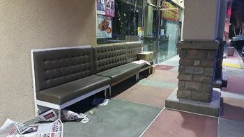 Green Island Restaurant benches