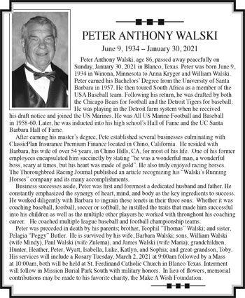 PETER ANTHONY WALSKI
