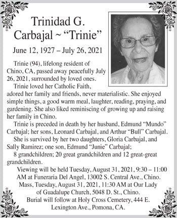 Trinidad G. Carbajal