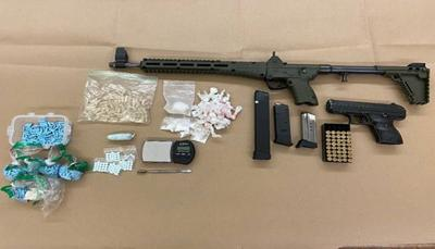 Drugs, weapons found inside car in parking lot in Chino; 21-year-old from Chino Hills arrested