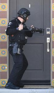 A Chino Police SWAT team member