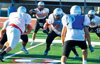 Ayala High School's offense practices