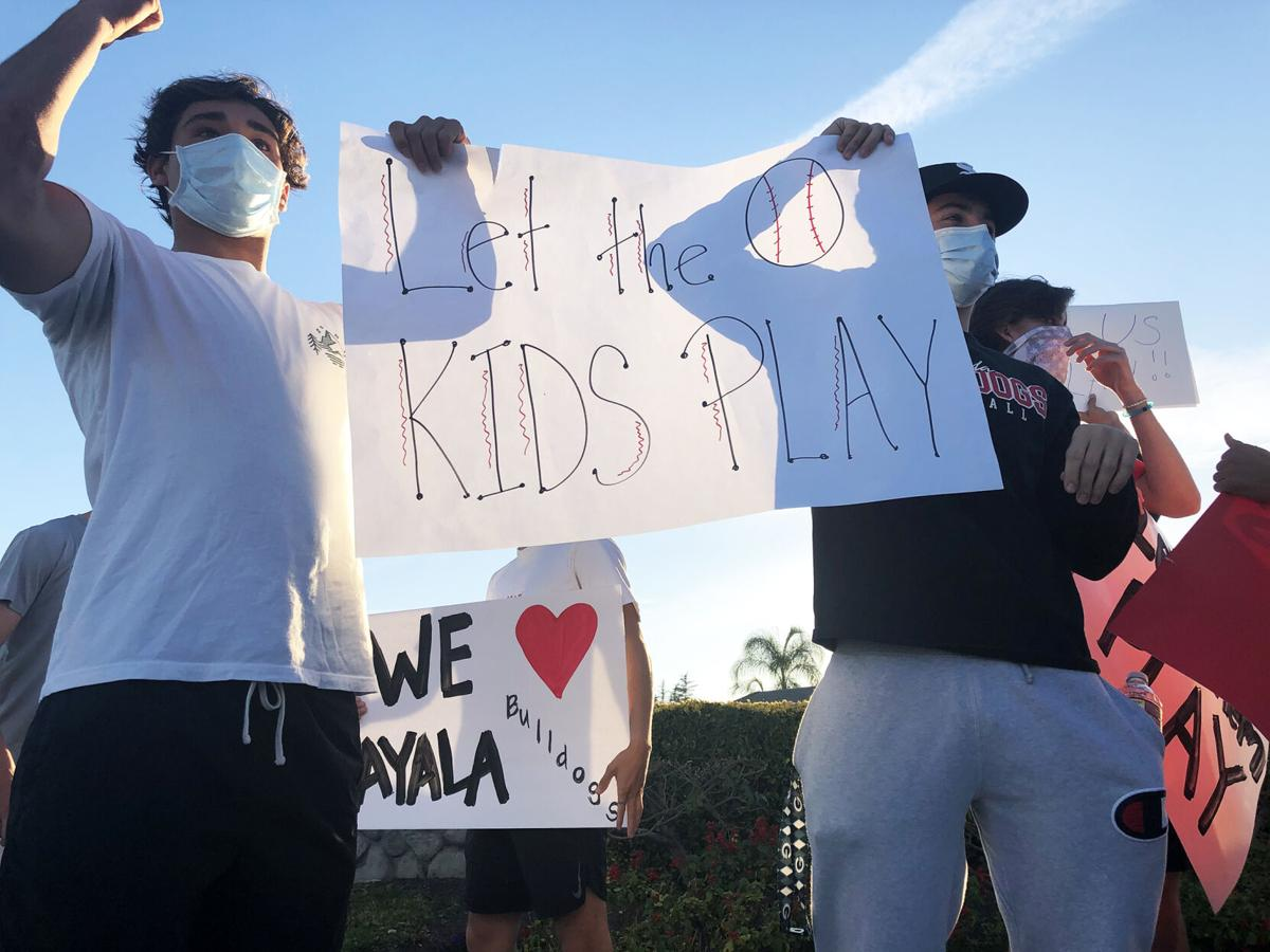 'Let Them Play' rally held Friday by four CVUSD high schools in Chino Hills