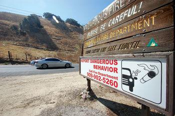 The Carbon Canyon Fire Safe Council sign