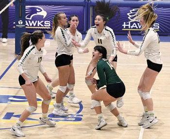 Ontario Christian High girls' volleyball players
