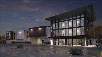 Self-storage facility rendering