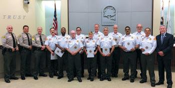 Chino Hills Citizens Patrol newly graduated volunteers