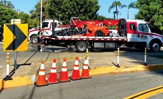 Corvette is removed from the crash site
