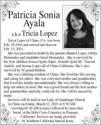 Patricia Sonia Ayala obit
