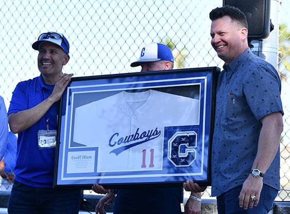 Chino High baseball retires #11 in honor of 1991 alum nd retired MLB player Geoff Blum