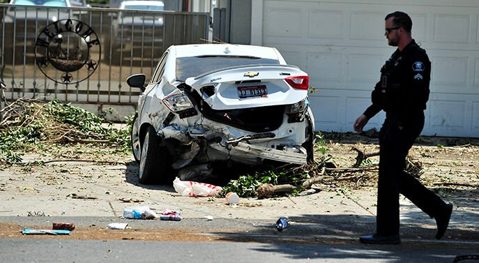 Chino man arrested atter 'path of destruction' left on Philadelphia Street during pursuit of stolen semi-truck Saturday