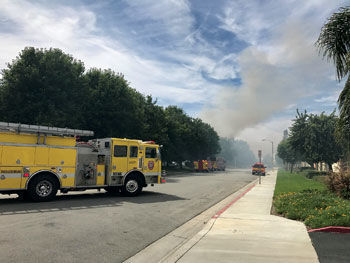 Chino vehicles fire