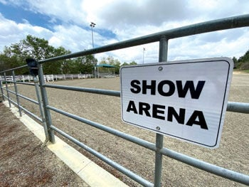 The show arena at McCoy Equestrian Center