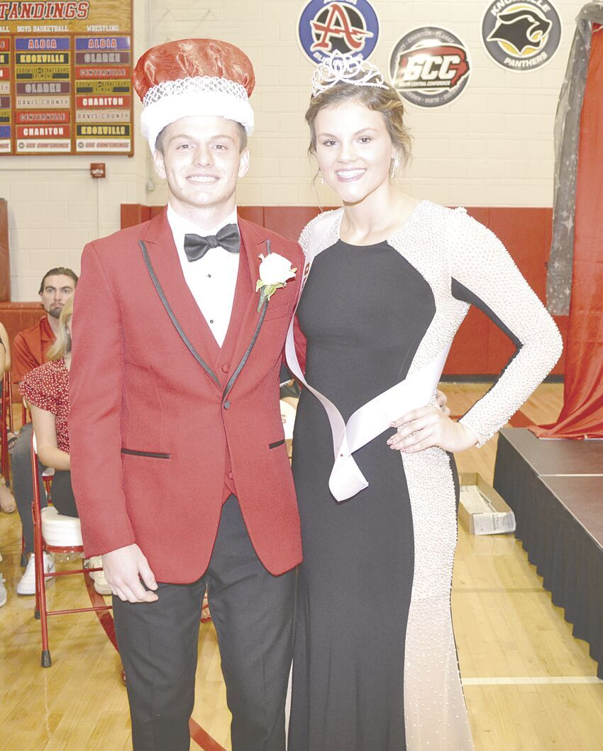CHS Homecoming King and Queen after being crowned at assembly.tif