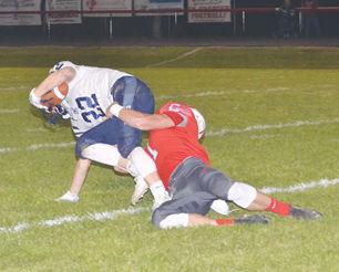 Graden Arnold makes a tackle