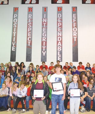 CMS Students of PRIDE for Respect at assembly