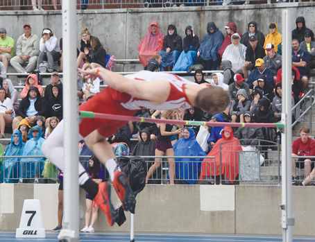 Jackson Fisher in the high jump