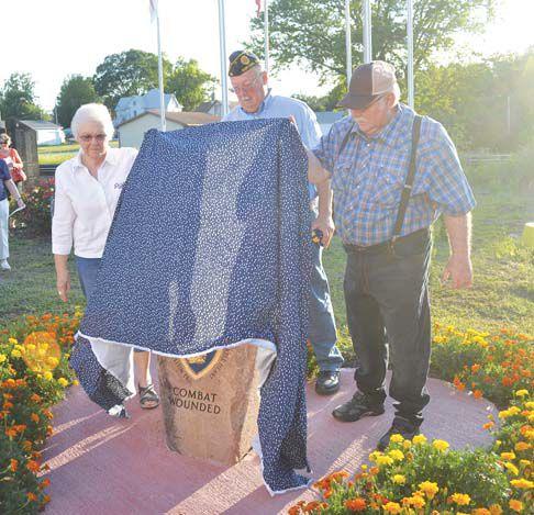 Unveiling Purple Heart Memorial