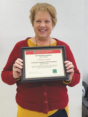 Morrett honored with Iowa 4-H Visionary Award for helping kids make STEM connections