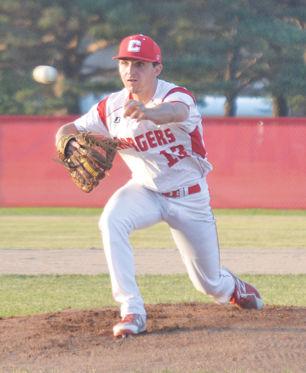 Brady Hamilton pitching