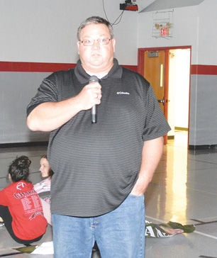 Chariton Middle School-Todd Jensen speaks about military service