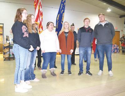 Van Allen Elementary-CHS students sing National Anthem