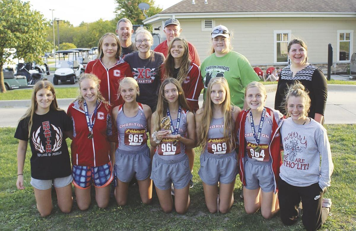 Girls cross country team champions at Moravia meet.tif