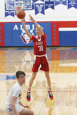 CHS Varsity boys give Albia tough battle before falling on road