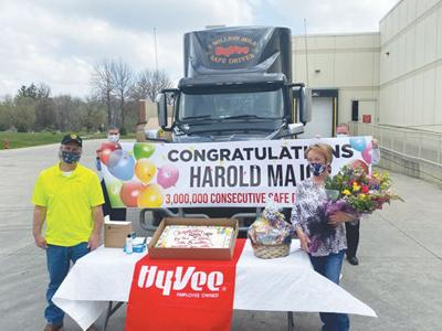 Hy-Vee celebrates first 3 million mile safe driver