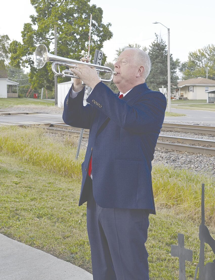 Adam Bahr playing Taps to conclude ceremony.tif