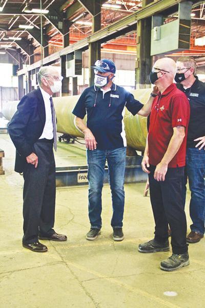 Senator Chuck Grassley visits Johnson Machine Works