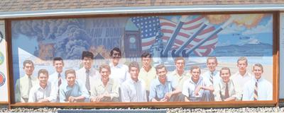Dedication of World War II Mural held at Memorial Park
